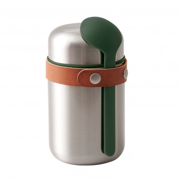 Black + Blum vacuum insulated stainless steel food flask 400 ml / 13.5 fl oz Olive