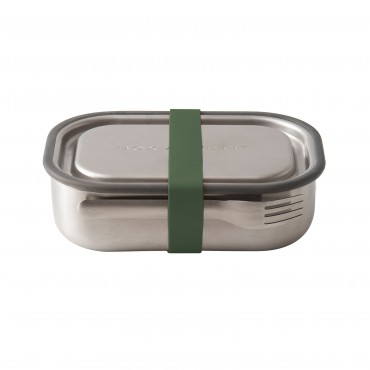 Black + Blum stainless steel lunch box Olive