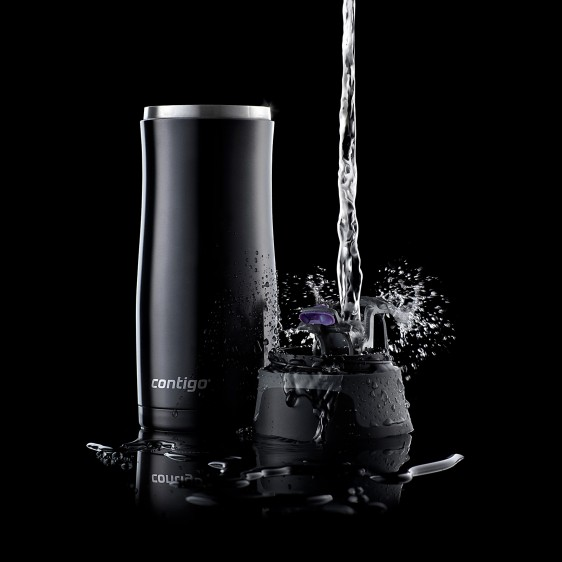 Contigo West Loop Travel Mug 470ml Black Stainless Steel