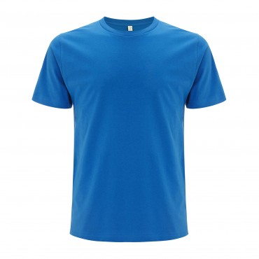CONTINENTAL Men's Unisex Bright Blue T-shirt (Organic Cotton)