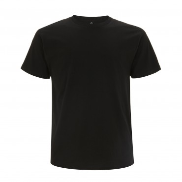 CONTINENTAL Men's Unisex Black T-shirt (Organic Cotton)