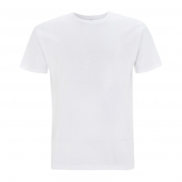 CONTINENTAL Men's Unisex White T-shirt (Organic Cotton)