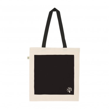 YOKI HEAVY SHOPPER TOTE BAG BLACK (Organic Cotton)