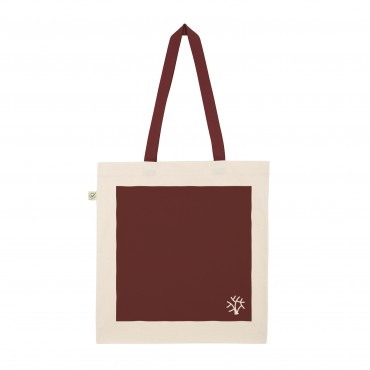 YOKI HEAVY SHOPPER TOTE BAG BURGUNDY (Organic Cotton)