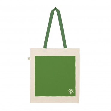 YOKI HEAVY SHOPPER TOTE BAG GREEN (Organic Cotton)