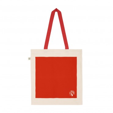 YOKI HEAVY SHOPPER TOTE BAG RED (Organic Cotton)