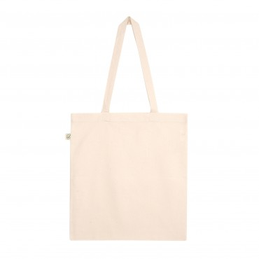 YOKI HEAVY SHOPPER TOTE BAG NATURAL WHITE (Organic Cotton)