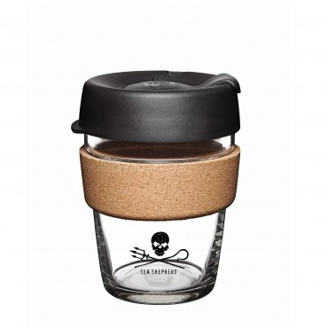 KeepCup Sea Shepherd Brew Cork 12oZ/340ml Black