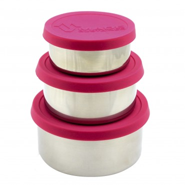 Made Sustained Pink Round Stainles lunchboxes