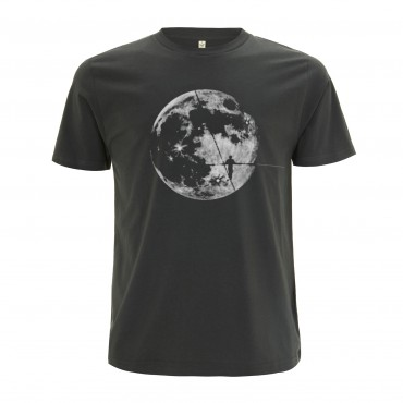 Yoki Attitudes // Moonwalker - Men's Unisex Dark Grey T-shirt  (Organic Cotton)