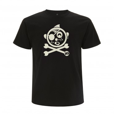 Yoki Attitudes // Pirate - Men's Unisex Black T-shirt  (Organic Cotton)